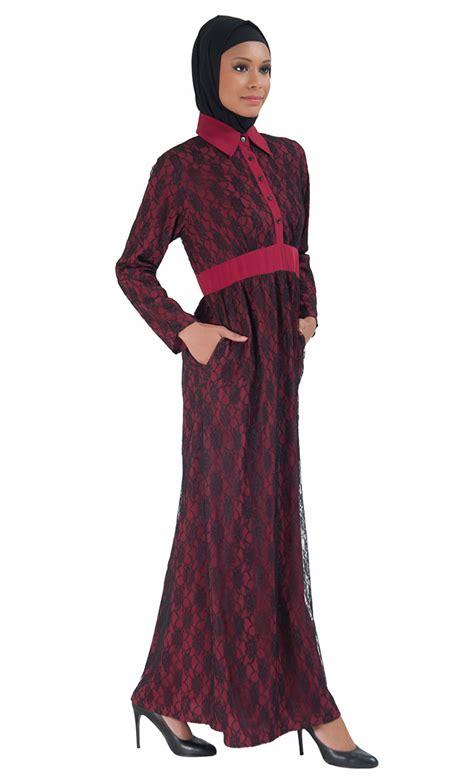 lace abaya dress maroon shop at discount price islamic