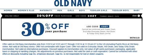 old navy coupons in store 30 off pinned november 2nd 30 off online today at oldnavy via