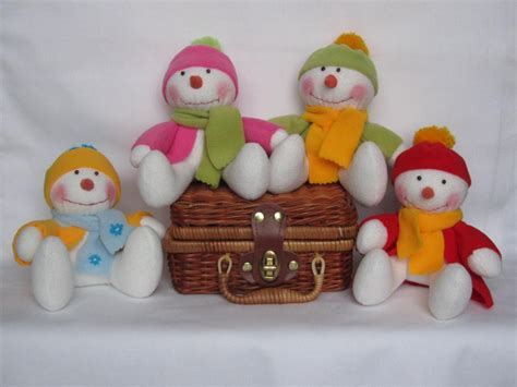 Handcrafted Toys - handsome handmade snowmen parade handmade snowman toys