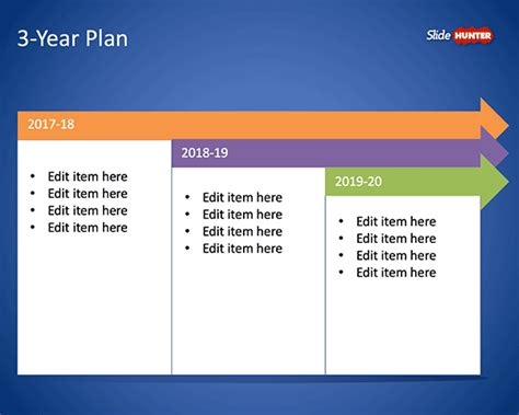 Three Year Plan Template Free 3 Year Plan Template For Powerpoint Free Powerpoint Templates Slidehunter Com