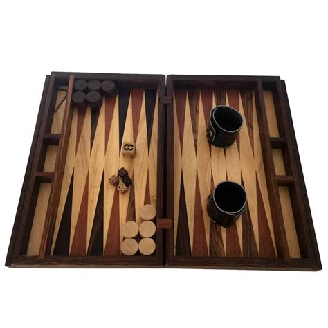 Handmade Backgammon Set - handmade backgammon set by don shoemaker at 1stdibs