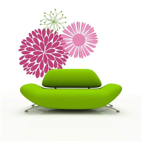 large flower wall stickers vinyl wall decal mod flowers large wall stickers