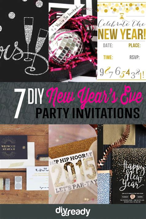 new year 2015 diy 8 diy new years invitations diy crafts