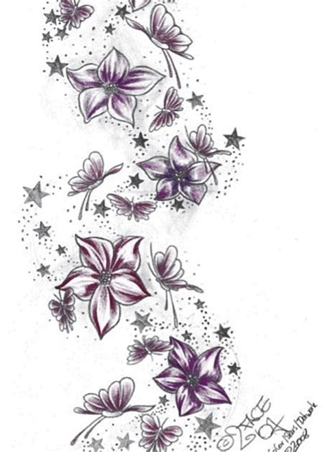 butterflies and stars tattoo designs best japanese