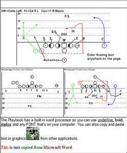 Football Play Template by Playbook Software Create Playbook Coach S Office