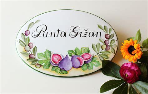targhe per porte targhetta ceramica toscana dipinta a mano targa ceramica con