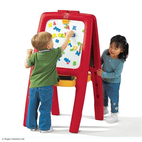 Easel For Toddlers | step2 easel for two childrens kids art crafts white black chalk board toy ebay