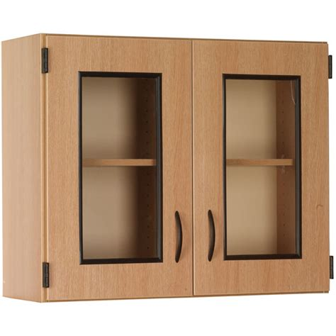 Stevens Wall Display Cabinet With Framed Glass Doors Wall Display Cabinets With Glass Doors