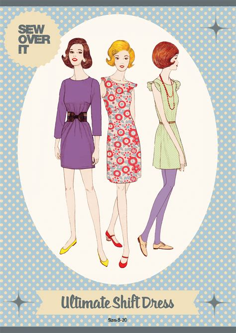 pattern over video sew over it ultimate shift dress downloadable pattern