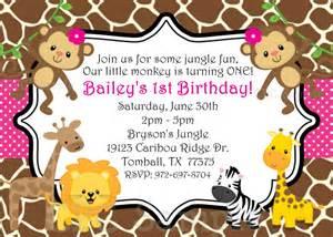 safari themed first birthday invitation wording birthday