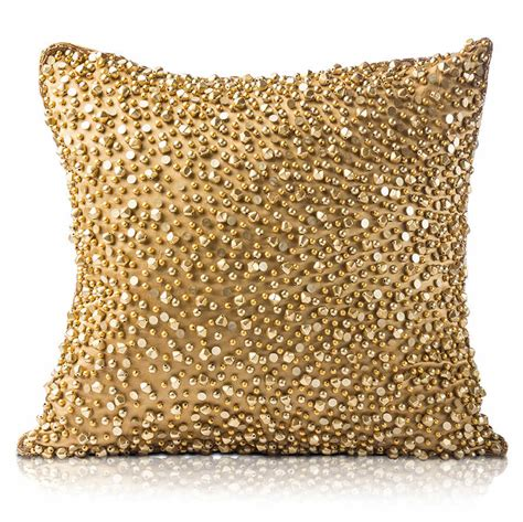 Gold Pillows by Pyar Co Khanana Gold Decorative Pillow