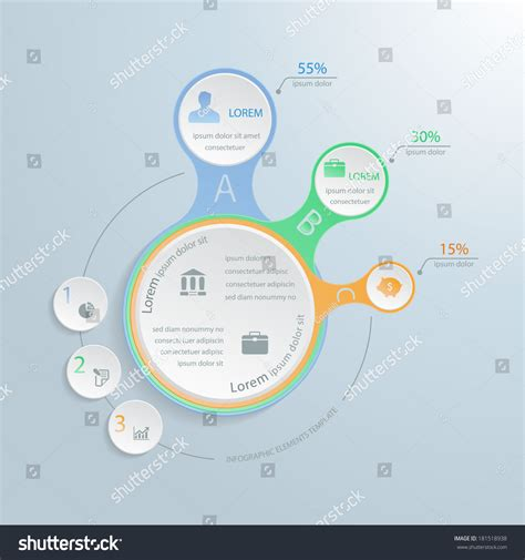 infographic element layout infographic elements metaball style perfect step stock