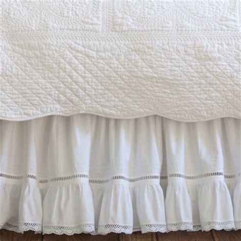 bed shirts prairie crochet twin bed skirt
