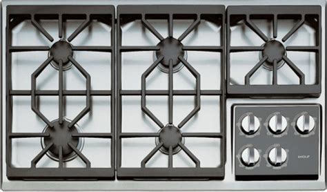 wolf 36 cooktop wolf ct36g 36 inch gas cooktop with 5 dual stacked sealed