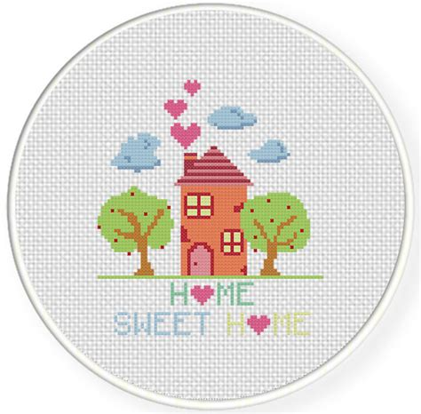 cross stitch pattern house rules home sweet home cross stitch pattern daily cross stitch