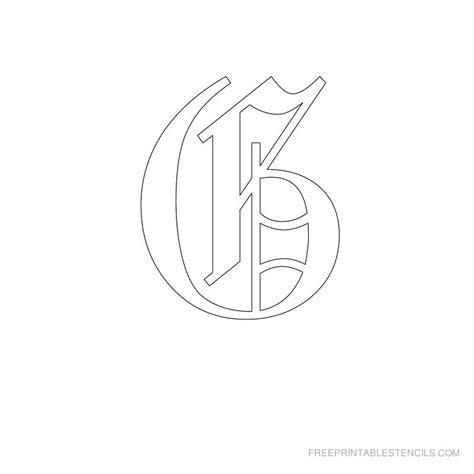 printable old english alphabet stencil d crafts printable old english letter stencils free printable