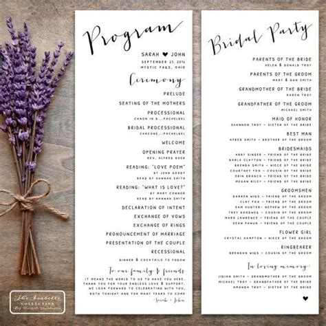 25 best ideas about wedding programs on