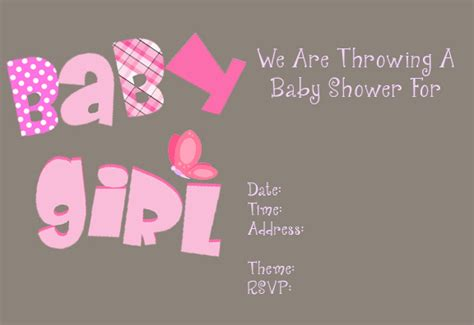 free templates for baby shower invitations girl free printable girl baby shower invitations theruntime com