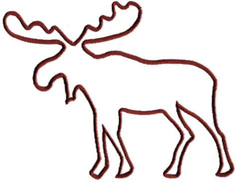 moose template moose outline clipart best