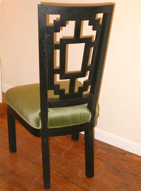 asian style dining room furniture set of six style dining chairs at 1stdibs