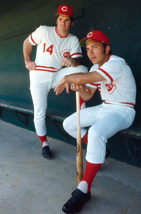 johnny bench and pete rose rare si photos of johnny bench si com