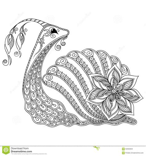 coloring pages vector pattern for coloring book illustration of a snail stock