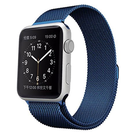 Apple Loop Kanvas Iwatch Iwo 2 38mm 42mm usa apple band vitech fully magnetic closure clasp mesh loop milanese stainless steel