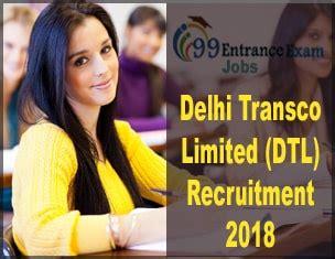 jobs for pattern master in delhi ncr delhi transco limited dtl recruitment 2018 application