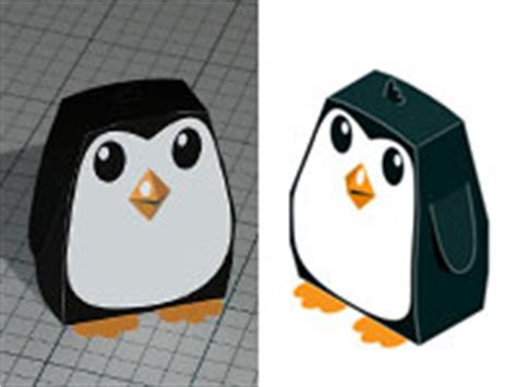 How To Make A 3d Penguin Out Of Paper - free cut n fold 3d penguin model papercraft adam dorman