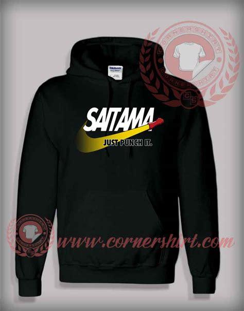 design hoodie with logo saitama just punch it custom design hoodie logo parody shirt