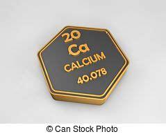calcio tavola periodica calcio materiale segno series periodico materiale