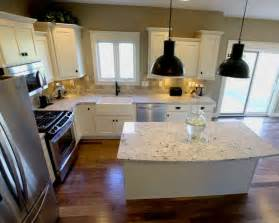 small shaped kitchen with island design mdf rustic