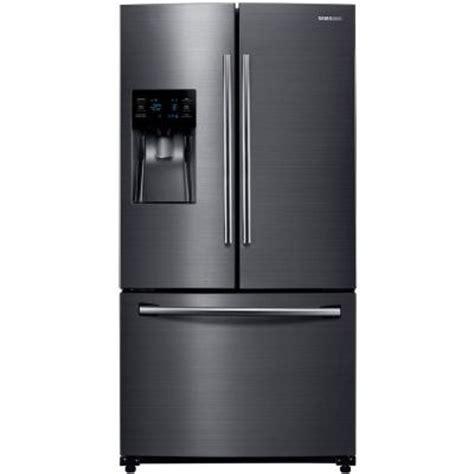 samsung door refrigerator stainless steel samsung 24 6 cu ft door refrigerator in black