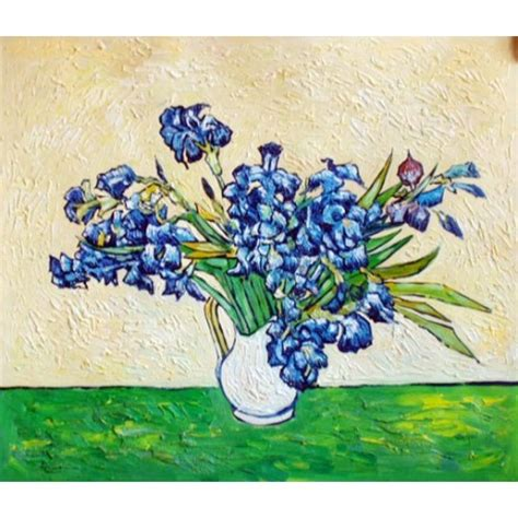 Gogh Vase With Irises by Quot Vase Of Irises Strauss 1890 Quot By Vincent Gogh