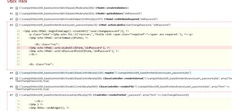 yii tutorial validation rules php scenario validation rules showing null stack overflow
