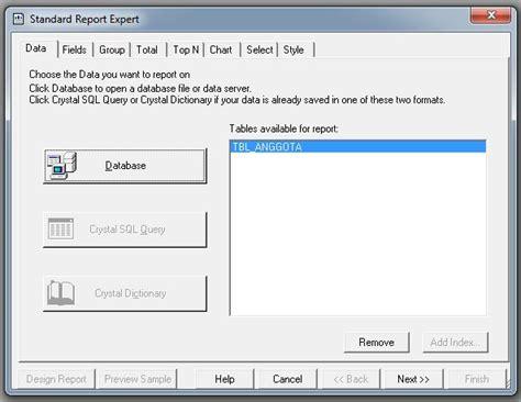 membuat laporan data anggota aplikasi perpus jnm