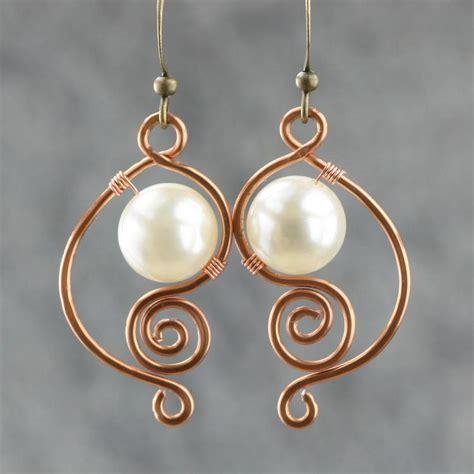 Handmade Wire Earrings Designs - 2017 su yuan white pearl earrings handmade earrings