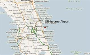 airport in florida map melbourne airport florida location guide