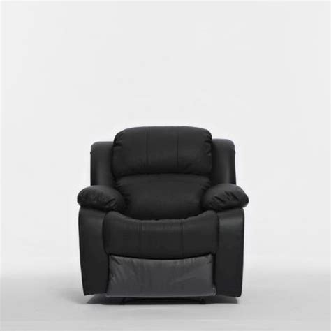 Single Leather Recliner Chair by Single Recliner Chair In Black Pu Leather Buy