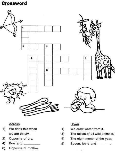 easy crossword puzzles worksheets easy kids crosswords puzzles activity shelter