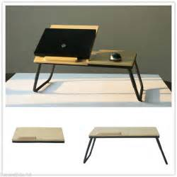 Folding Desk Bed Portable Laptop Desk Table Folding Desk Bed Tray Notebook Wood Stand Modern Work Work