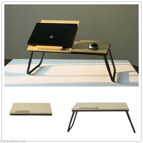 Folding Laptop Desk Portable Laptop Desk Table Folding Desk Bed Tray Notebook Wood Stand Modern Work Work