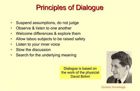 A Place No Dialogue We Dialogue D Bohm