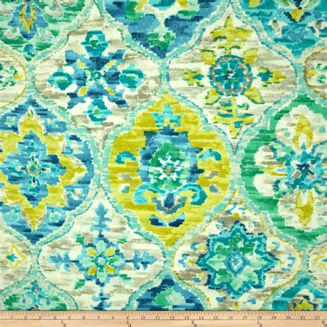 p kaufmann upholstery fabric p kaufmann indoor outdoor ali baba carribean blue