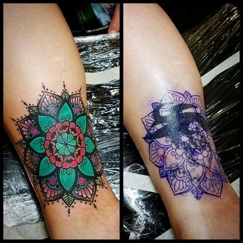 covering a tattoo mandala cover up tattoos pinte