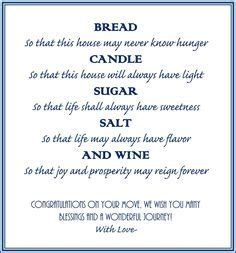 printable housewarming poem printable new home blessing bread salt wine poem bread