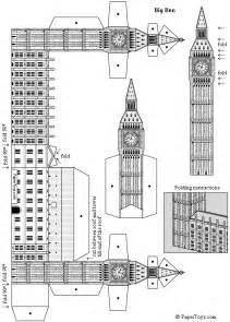 big ben st stephen s tower free paper model
