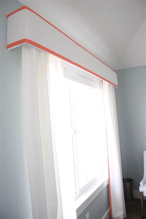 curtain pelmets diy no sew trimmed drapes and pelmet box withheart