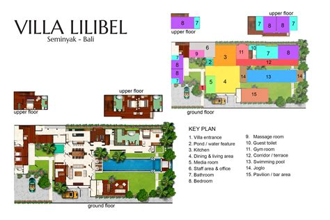 villa floor plan floorplan villa lilibel seminyak 6 bedroom luxury