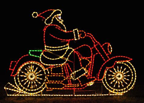 harley davidson motorcycle christmas lights artificial led outdoor lights animated santa on motorcycle led